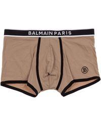 Balmain Men's Underwear Boxer Shorts - Natural