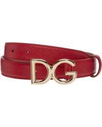 Dolce & Gabbana Cintura donna vera pelle - Rosso