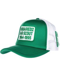 DSquared² Adjustable Hat Baseball Cap Baseball Bad Scout - Green
