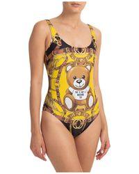 Moschino Women's Swimsuit Swimming Costume Swimwear Teddy Bear - Black
