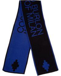 Marcelo Burlon Scarf Logo Football - Blue