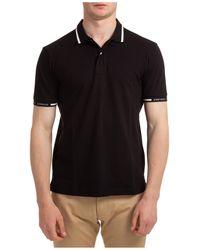 Emporio Armani Men's Short Sleeve T-shirt Polo Collar - Black