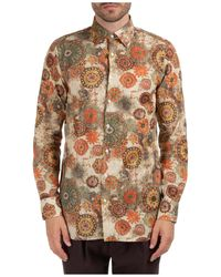 Gabriele Pasini Men's Long Sleeve Shirt Dress Shirt - Natural