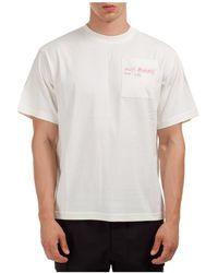 McQ Men's Short Sleeve T-shirt Crew Neckline Jumper Genesis Ii - White