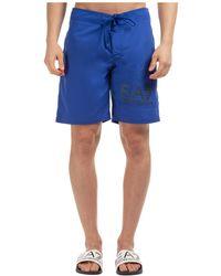 EA7 - Men's Boxer Swimsuit Bathing Trunks Swimming Suit - Lyst