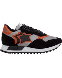 Atlantic Stars Men's Shoes Suede Trainers Trainers Draco - Black