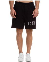 DSquared² Bermuda shorts pantaloncini uomo icon - Nero