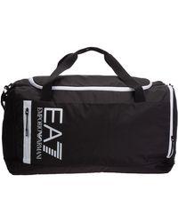 EA7 Men's Fitness Gym Sports Shoulder Bag - Black