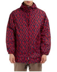 Gucci Men's Outerwear Jacket Blouson Hood - Red