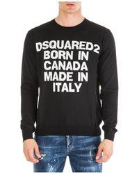DSquared² Maglione maglia uomo girocollo - Nero