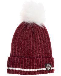 EA7 Women's Beanie Hat - Red