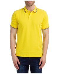 AT.P.CO Men's Short Sleeve T-shirt Polo Collar - Yellow