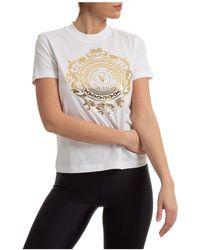 Versace Jeans Couture T-shirt maglia maniche corte girocollo donna - Bianco