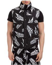 Givenchy Men's Nylon Waistcoat Body Warmer Jacket Padded - Black