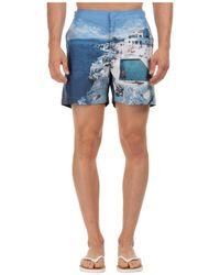 Orlebar Brown Men's Boxer Swimsuit Bathing Trunks Swimming Suit Bulldog Hulton City - Blue