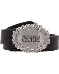 Versace Jeans Couture Men's Genuine Leather Belt - Black