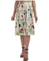 Boutique Moschino Women's Skirt Knee Length Midi - Multicolour
