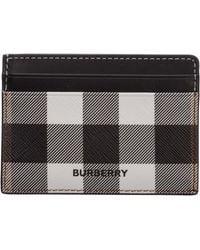 Burberry Porta carte di credito portafoglio uomo - Nero