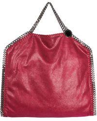 Stella McCartney Borsa donna a mano shopping tote 3chain falabella fold over shaggy deer - Rosso