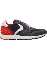 Voile Blanche Men's Shoes Suede Trainers Trainers Reubent Studs - Black