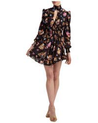 Versace Jeans Couture Vestito abito donna al ginocchio manica lunga - Nero