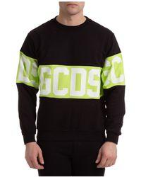 Gcds Sweatshirt Sweat Band Logo - Black