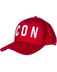 DSquared² Adjustable Men's Cotton Hat Baseball Cap Icon - Red