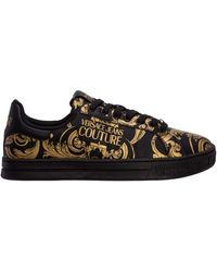 Versace Jeans Couture Men's Shoes Leather Sneakers Sneakers - Black