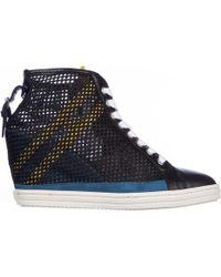 e6d66d364d9 Lyst - Hogan Rebel Shoes High Top Suede Trainers Sneakers Rebel R182 ...