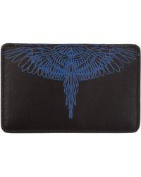 Marcelo Burlon Porta carte di credito portafoglio uomo pelle pictorial wings - Nero