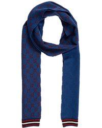 Gucci Sciarpa donna in lana - Blu