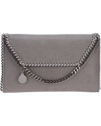 Stella McCartney Women's Cross-body Messenger Shoulder Bag Falabella Mini - Grey