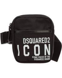 DSquared² Borsa uomo a tracolla borsello in nylon icon - Nero