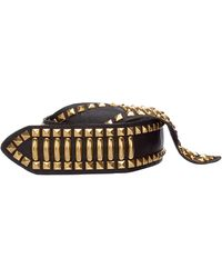 Alberta Ferretti Women's Genuine Leather Belt - Black