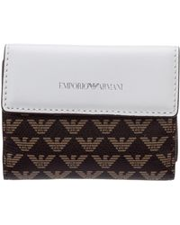Emporio Armani Women's Wallet Coin Case Holder Purse Card Trifold - Brown