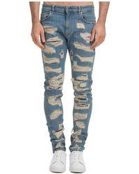 Represent Men's Jeans Denim Shredded - Blue