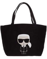 Karl Lagerfeld Borsa donna a spalla shopping k/ikonik - Nero