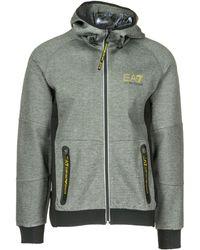 EA7 Sweatshirt With Zip Sweat - Grey