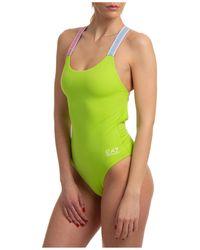 EA7 Women's Swimsuit Swimming Costume Swimwear - Green