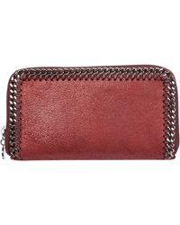 Stella McCartney Women's Wallet Coin Case Holder Purse Card Bifold Continental Falabella - Red