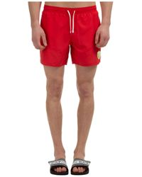 EA7 Boxer Swimsuit Bathing Trunks Swimming Suit - Red