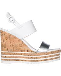 Hogan - Zeppe sandali donna in pelle h361 - Lyst