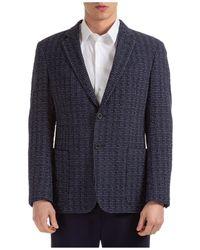 Emporio Armani Men's Jacket Blazer - Blue