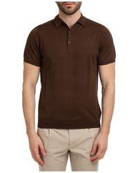 AT.P.CO Men's Short Sleeve T-shirt Polo Collar - Brown