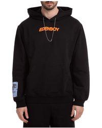 McQ Men's Hoodie Sweatshirt Sweat Eden High - Black
