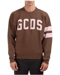 Gcds Men's Sweatshirt Sweat Logo - Brown