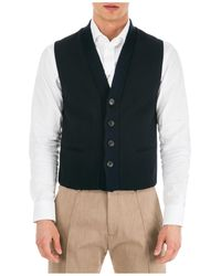 Emporio Armani Men's Jumper Waistcoat Vest - Blue