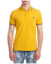 Fred Perry Polo t-shirt maglia maniche corte uomo - Giallo