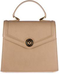 d''Este Women's Leather Handbag Shopping Bag Purse Monaco - Natural