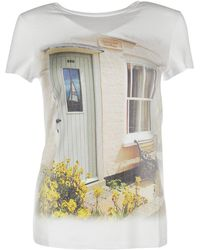 Blugirl Blumarine Women's T-shirt Short Sleeve Crew Neck Round - White